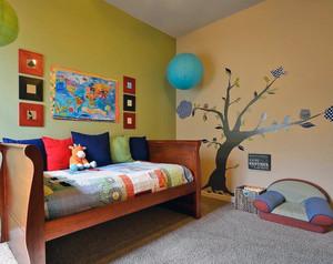 大户型都市儿童房墙体彩绘图案装修效果图