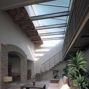 三室一厅复古风格家装客厅装修效果图实例