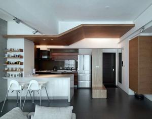 都市开放式小厨房日式风格装修效果图