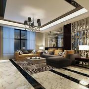 后现代客厅瓷砖地板