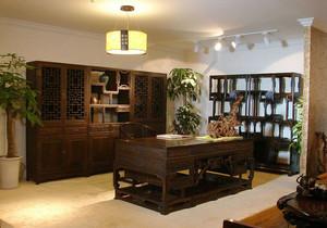 文雅老人家居大书房中式博古架书柜图片