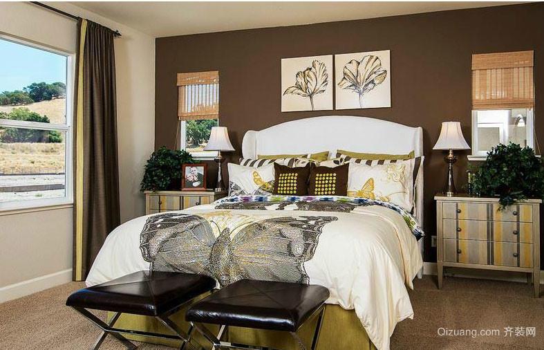 2016混搭风格21平米卧室黑白装饰画图片