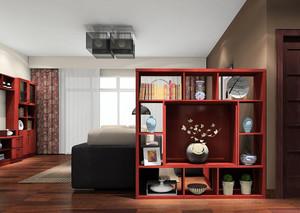 144平米老年公寓客厅中式博古架装修图片