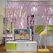 电视柜个性背景墙