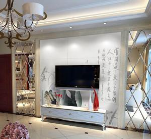 耐用美观:135平米家居瓷砖精致影视墙装修图