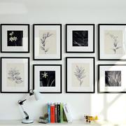 艺术之家:书房简约黑白装饰画效果图片