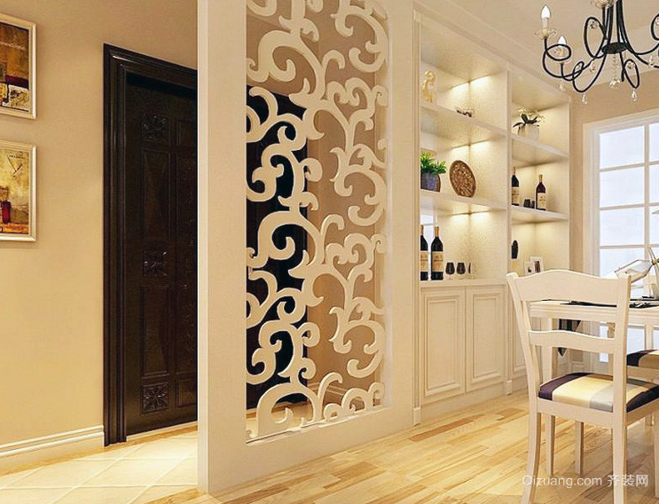 2016欧式大户型房间室内隔断设计装修效果图