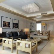 79平米日式风格小户型客厅装修效果图