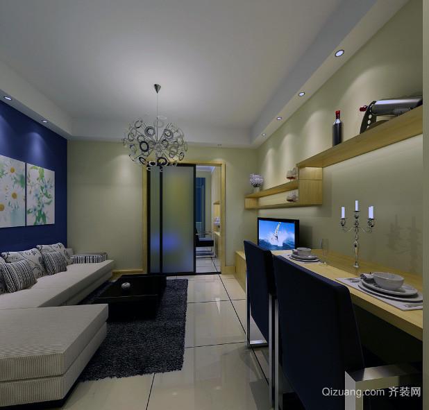欧式风格单身公寓装饰装修效果图实例