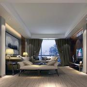 120平米大户型房子欧式客厅装修效果图实例