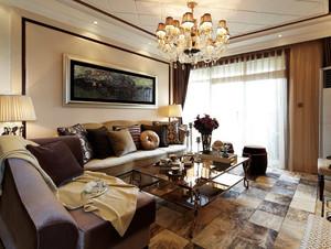 98平米现代古典风格小客厅装修效果图