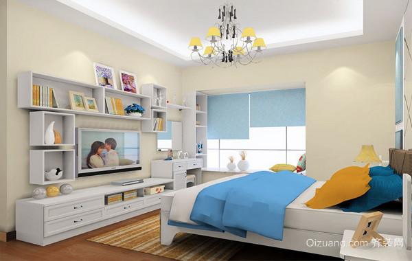 76平米小户型家居卧室简约电视组合柜图片