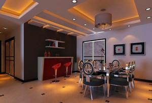 342平米复式楼后现代餐厅装修风格效果图