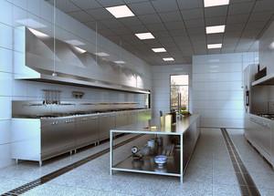 2016都市现代大型饭店厨房吊顶装修效果图实例