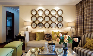 88平米小户型古典风格客厅背景装修图