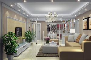大户型欧式风格家庭室内吊顶装修效果图实例