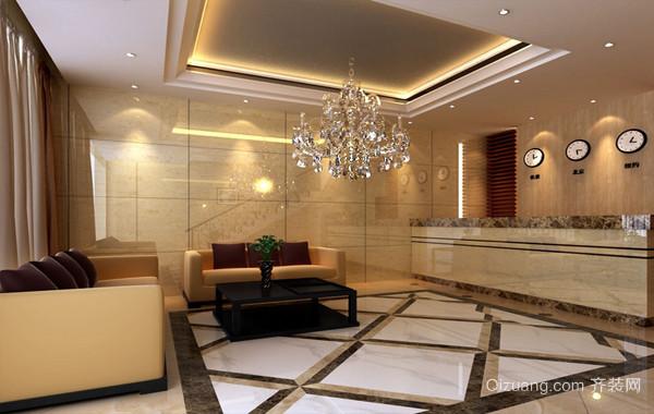2016年现代小宾馆大厅装修效果图