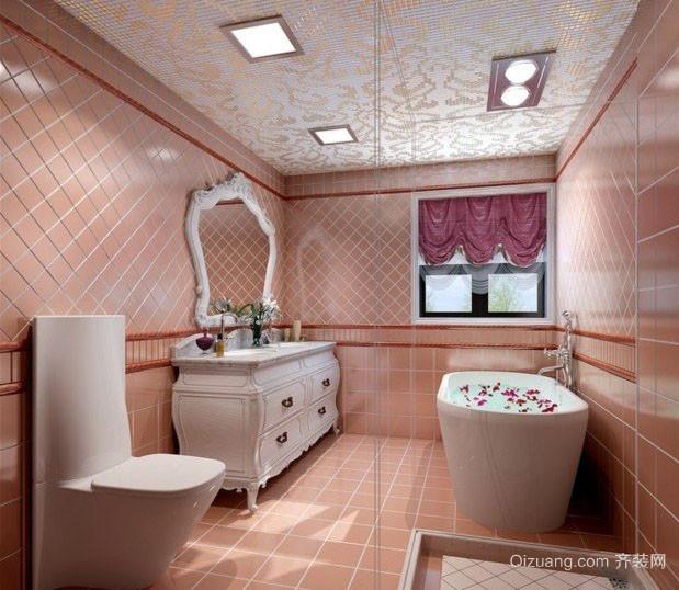 女神公寓简欧风格粉色卫生间装修效果图