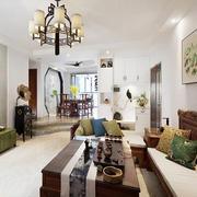 房屋客厅古典吊灯