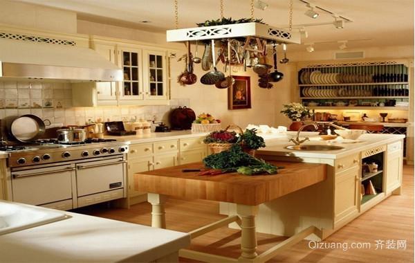 2016大户型简欧风格厨房吊顶装修效果图实例