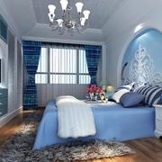 房屋水蓝色卧室展示