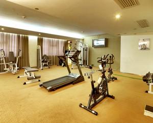 高质量生活:高级别墅家庭健身房装修图