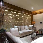 东南亚沙发背景装饰设计