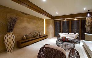 东南亚客厅电视背景墙