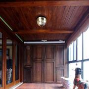 东南亚阳台实木吊顶