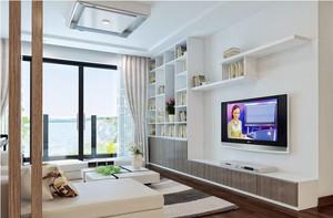 2016现代家居客厅组合电视柜装修图片