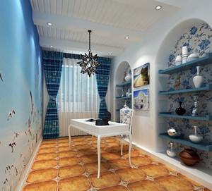 90平米房屋地中海风格家居装修设计图