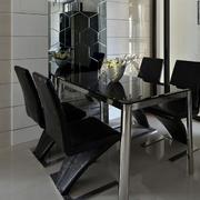100平米房屋餐厅前卫餐桌椅