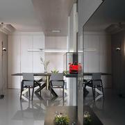 100平米家居简约餐厅展示