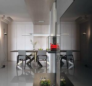 宜家现代化灰白色100平米房屋装修效果图