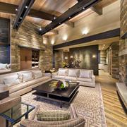 别墅客厅舒适沙发欣赏