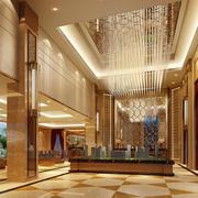 奢华大型精致售楼部水晶吊灯设计效果图