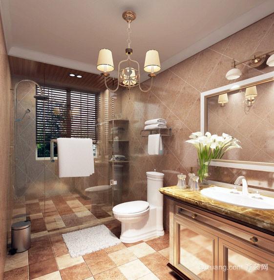 温馨朴素小卫生间吊灯装修效果图片