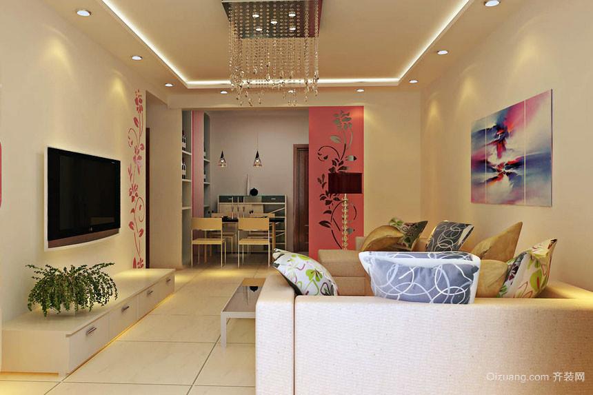 温馨一室一厅现代家居客厅装修图片