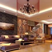 温馨复式楼客厅展示