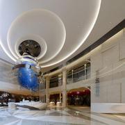 超级高端都市大型售楼处吊顶设计效果图