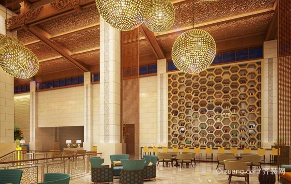 梦寐以求:度假宾馆东南亚风格大厅效果图