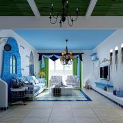 房屋客厅蓝色装饰欣赏