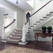 欧式风格大户型室内家庭楼梯装修效果图