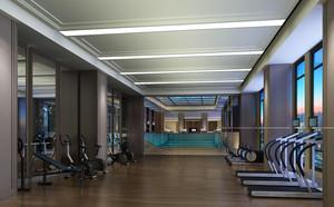 2016都市现代大户型健身房装修效果图