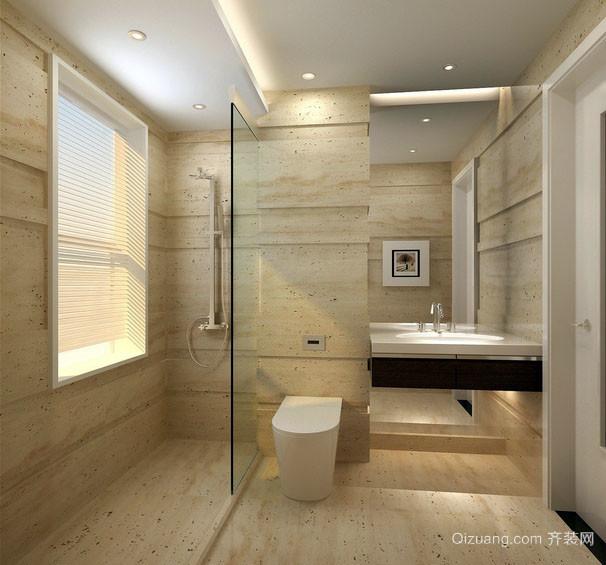66平米单身公寓原木色卫生间装修效果图