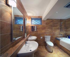 70平米小户型欧式风格卫生间瓷砖装修效果图