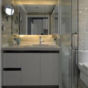 100平米房屋洗手台置物柜