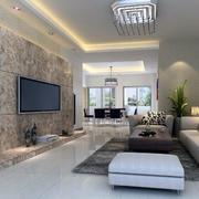 2016别墅型欧式电视墙背景装修效果图实例