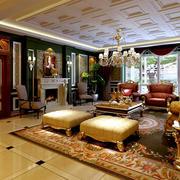 复式楼客厅豪华装饰
