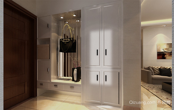 90平米大户型欧式风格客厅鞋柜装修效果图
